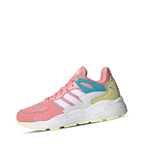 Adidas CRAZYCHAOS J, Zapatillas para Correr Unisex Adulto, Glory Pink/FTWR White/Bright Cyan, 39 1/3 EU
