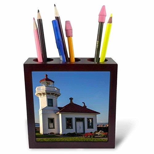 3dRose Ph_260793_1 pennenhouder voor tegels en pennen, 12,7 cm, grijs/groen