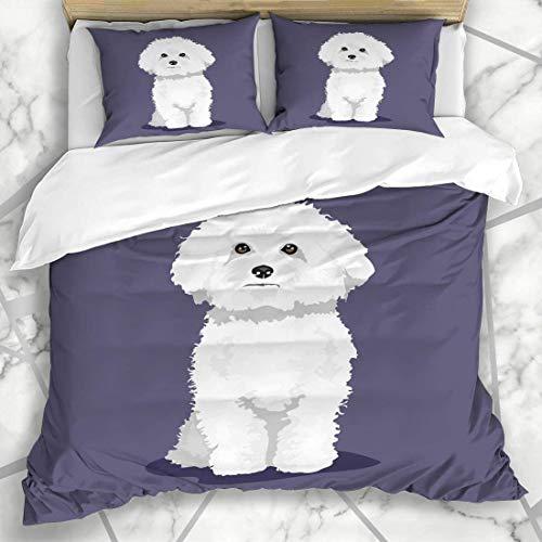 695 Juego de ropa de cama con funda de edredón y diseño de lazo de microfibra con 2 fundas de almohada