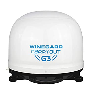 Winegard GM-9000 Carryout G3 Portable Automatic Satellite Antenna, White