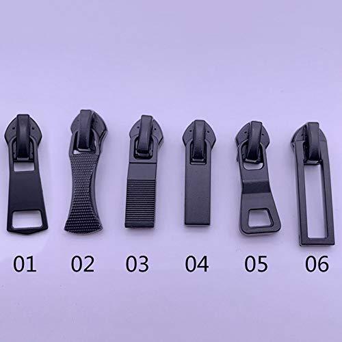 CHZIMADE 5# Universal-Reißverschlussköpfe für Kleidung, Koffer, Nähen, DIY, 5 Stück, 06