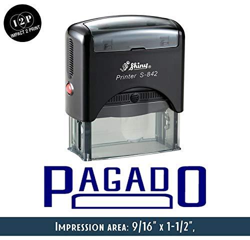 IMPACT2PRINT Brillante Sello De Goma Auto-Entintado S-842 PAGADO Oficina De Sellos De Negocios Personalizados Estacionarios