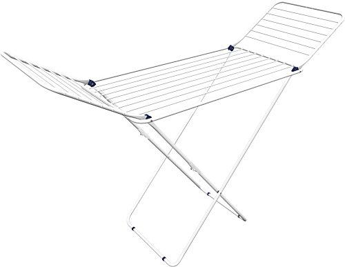 Gimi Crono Tendedero de pie de Aluminio y Acero, 20 m de Longitud de tendido