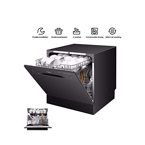 LKNJLL 8 Place Setting Portable Compact Lave-Vaisselle Countertop