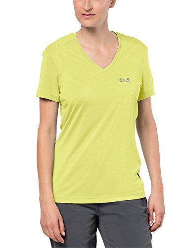 Jack Wolfskin Damen T-Shirt Crosstrail, Lemon, XS1801692.0