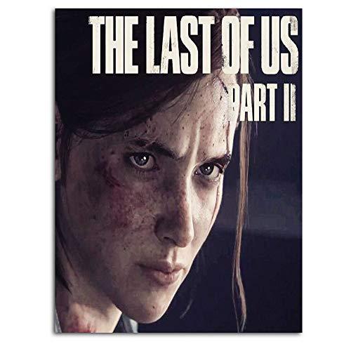 Ghychk The Last of Us Part II Art Paintings - Póster de Ellie and Joel (30,48 x 45,72 cm), diseño de Ellie y Joel