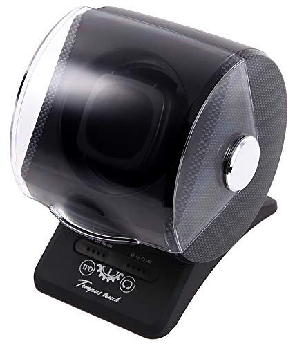 ワインディングマシーン 1本 1年保証 タッチパネル 12時センターストップ カーボン柄 テンパス タッチ 腕時計 自動巻き上げ機 静音 GO-JBW121