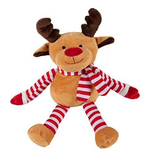 Reindeer Plush Toy - Blitzen The Reindeer Kids Soft Stuffed Animal, Fun Christmas Holiday Party Gifts for Girls and Boys, Festive Decoration, 12 x 3.2 Inches