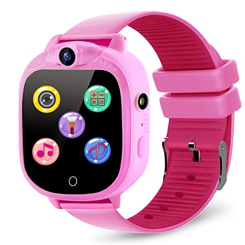 Product Image of the PROGRACE Kids Smart Watch with 90°Rotatable Camera Smartwatch Touch Screen Kids...