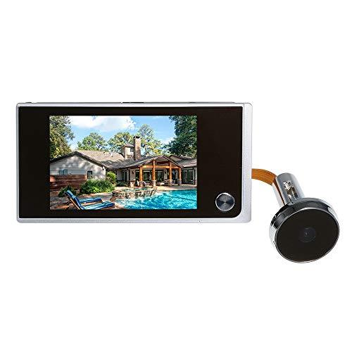Festnight Cámara Digital de la Puerta Mirilla Visor de Ojos de Puerta Cámara con 120 Grados de Gran Angular Y Pantalla LCD a Color de 3.5 Pulgadas, Sin Baterias