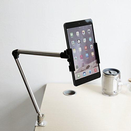 Soporte para teléfono, soporte de montaje en escritorio portátil montado firmemente en la cama Soporte de clip de escritorio Soporte de mesa móvil Soporte de tableta móvil para View Tablet