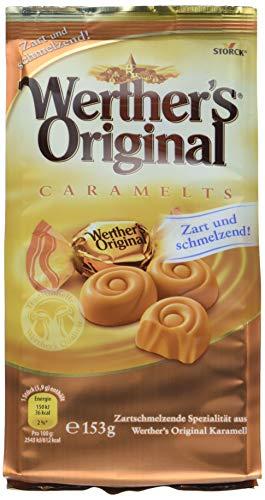 Werther's Original Caramelts – Feine, zarte Karamell Bonbons mit lang anhaltendemgenuss, der auf der Zunge zergeht – (7 x 153g Beutel)