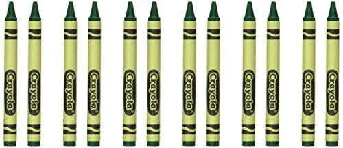 Crayola Non-Toxic Regular Single-Color Crayon Refill, 5/16 X 3-5/8 Inches, Green, 12 Crayons