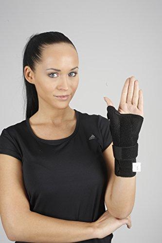 Soporte para muñeca con férula para el pulgar, ayuda al síndrome de túnel carpiano, tendinitis ajustable para la mano derecha e izquierda