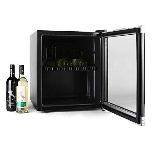 Klarstein Beerlocker - Mini-réfrigérateur, Mini cave à vin, Capacité de 46L, 15 bouteilles, Etagères amovibles, Ouverture porte variable, Classe B, noir