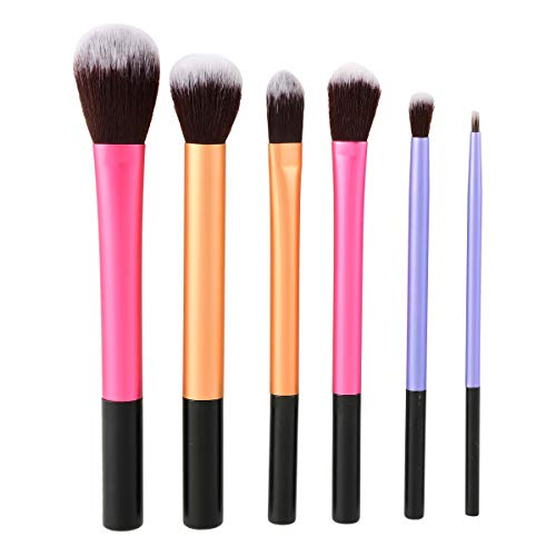 OuYou Maquillage Cosmétique Brosse Ensemble Professionnel Poignée Premium Synthétique Kabuki Fondation Blending Blush Concealer Yeux Visage Liquide Poudre 6pcs