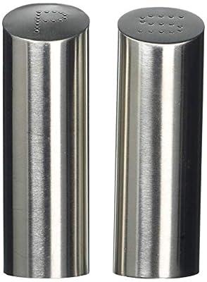 Zeller 27341 2-Piece Salt and Pepper Cellar Set / Stainless Steel 4 x 11.5 cm by Zeller Present Handels GmbH