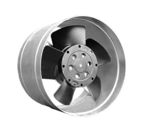 Pequeño ventilador metálico para horno, con canal distribuidor de aire caliente máx. 80°C, turbina para chimenea Whisper DN 125–100m3/h.