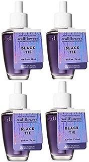 Bath and Body Works Black Tie Wallflowers Fragrances Refill. 0.8 Oz. 4 Set.