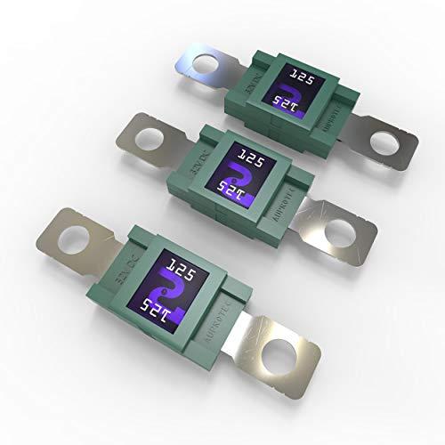 AUPROTEC Mega Hochstromsicherung Schraubsicherung 80A - 500A Auswahl: 125A Ampere grün, 3 Stück