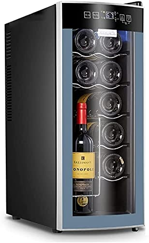 FREEZYMAN Independent Wine Cellar, 10-Bottle Wine Cooler, Temperature-Controlled Wine Refrigerator, Small Household Ice Bar, Electronic Refrigeration (Color : Gray, Size : 255063.5cm)