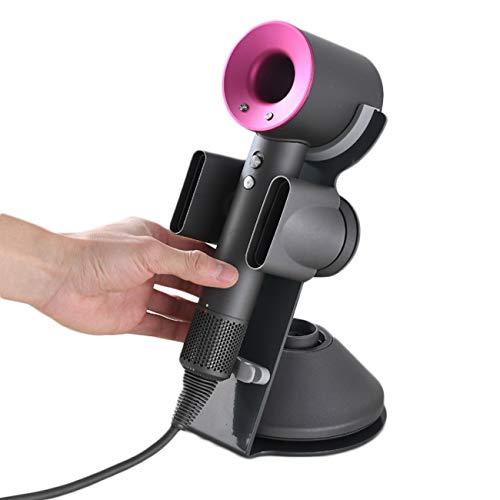I'smartmoon Dyson Supersonic Hair Dryer Stand Holder, Aluminum Alloy Bracket Power Plug Holder, Bathroom Organizer for Dyson Supersonic hairdryer Care Tools (Gray)