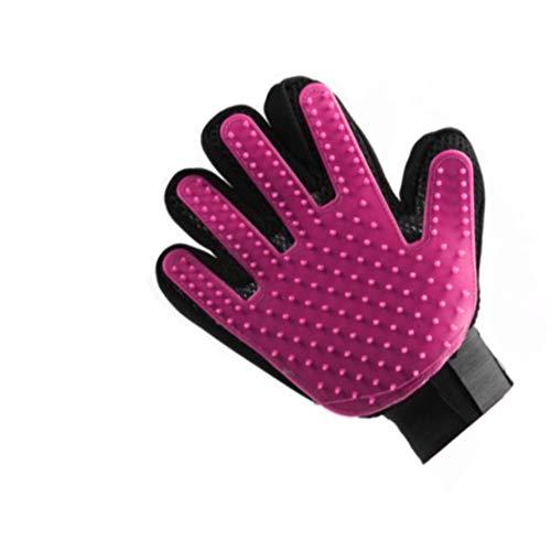 pretty petZ Fellpflege-Handschuh einfachen Entfernung Loser Tierhaare | Für Hunde & Katze in Profi Tiersalon Qualität | + GRATIS E-Book (S, Pink)