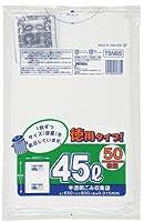 ジャパックス 容量表示入ポリ袋 45L お徳用タイプ TSN65 白半透明 50枚×20冊入