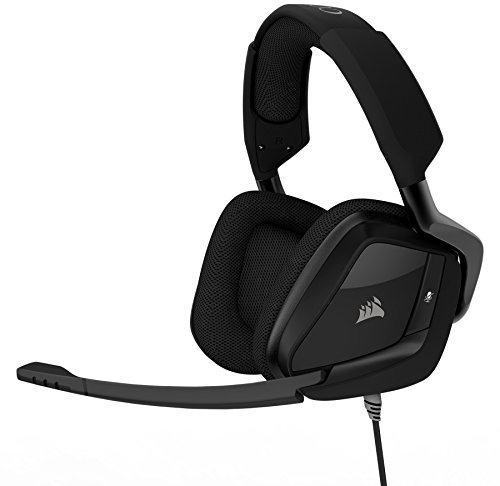 CORSAIR VOID PRO RGB Wireless Gaming Headset - Dolby 7.1 Surround Sound Headphones for PC - Discord - 50mm Drivers - White (Renewed)