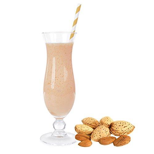 Mandel Geschmack Eiweißpulver Milch Proteinpulver Whey Protein Eiweiß L-Carnitin angereichert Eiweißkonzentrat für Proteinshakes Eiweißshakes Aspartamfrei (1 kg)