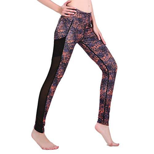 DSCX DamesLeggingsSport Mesh Gaas Splicing Pants ElasticPlus SizeOutdoorHigh Waist Fashion