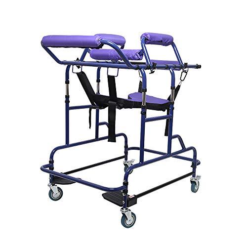 Ouderen Staande Walker, Verstelbare Hoogte Breedte Rollators Trolley Stand Frame Volwassen Walker Multi-Functie Assistant