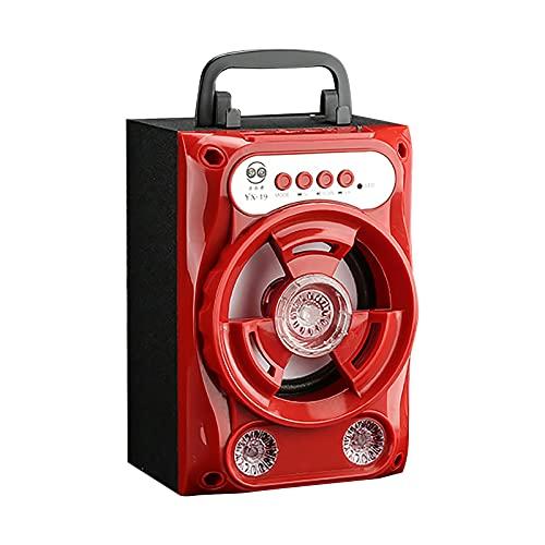 MARIJEE Subwoofer Bluetooth Speaker Tragbarer kabelloser Bluetooth-Hochleistungs-Bluetooth-Lautsprecher mit Musikfass 360° HD-Surround-Sound Outdoor Wasserfester und Staubdichter Speaker, (rot)