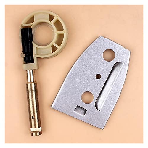 Ajuste perfecto Kit de la placa de la barra de la bomba de aceite de cobre Ajuste para H-USQVARNA 50 51 55 Piezas de reemplazo de motosierra ranchero 503660102, 503152101 Buena resistencia a la abrasi