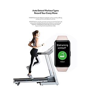 HONOR Band 6 Pulsómetro de muñeca hombre mujer 10 modos podómetro reloj Fitness Activity Tracker Smartwatch Smartband, impermeable 5 ATM, monitor de ciclo femenino, 14 días