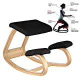Rocking Kneeling Chair, Wood Knee Stool Computer Posture Correcting Ergonomic Rocking Kneel Seat