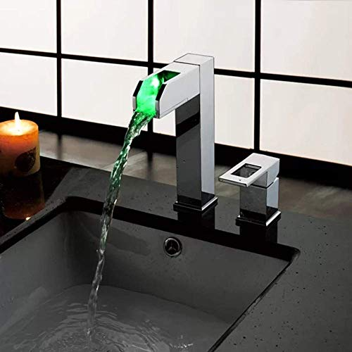Nieuwe groothandel badkamer modetrend duurzame LED-lampen kleur waterkracht wastafel waterkraan nuttig