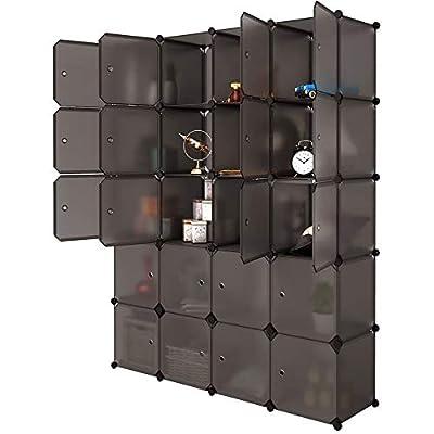 Lovinland 20 Cube Organizer Stackable Plastic C...
