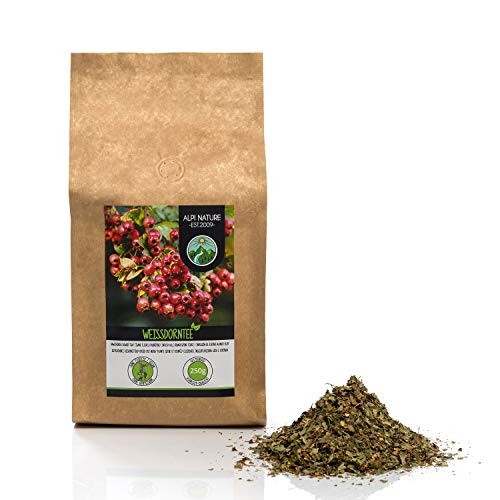 Thé d'aubépine (500g), aubépine coupée, déshydratée en douceur, épine de haie 100% pure et naturelle pour la préparation de thé ou tisane