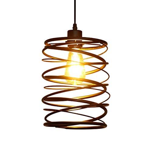 guoqunshop Lámpara de Techo Las Luces del Techo iluminación de la lámpara Sola Cabeza de la lámpara del Hierro labrado Espiral Luz Restaurante Bar Corredor Luces Inicio Lámpara Colgante Rectangular