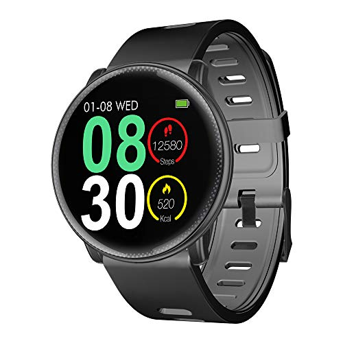 Smart Watch, UMIDIGI Uwatch2 Bluetooth Smartwatch per uomo Donna Bambini Compatibile Android iOS, IP67 impermeabile, tracker attività fitness con cardiofrequenzimetro (2 cinturini)