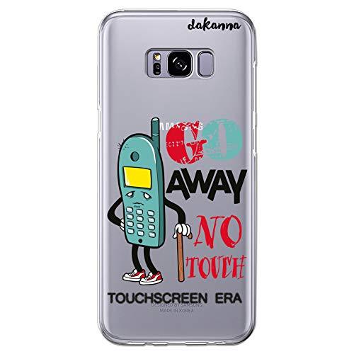 dakanna Funda Compatible con [Samsung Galaxy S8 Plus] de Silicona Flexible, Dibujo Diseño [Divertida con telefono y Frase], Color [Fondo Transparente] Carcasa Case Cover de Gel TPU para Smartphone