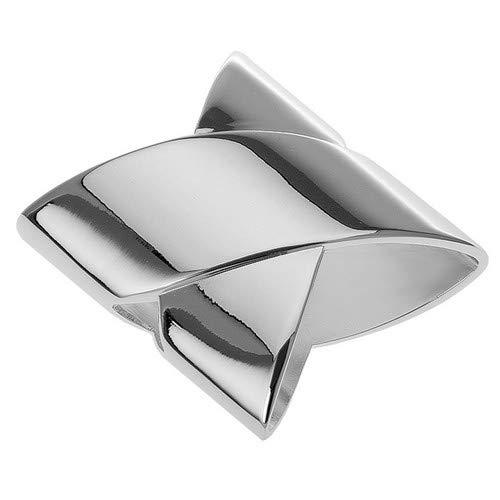 Portatovaglioli classico 5 x 5 cm per tovaglioli in tessuto, argento placcato argento