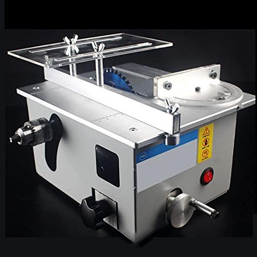 EnweMahi Multifunctional Mini Table Saw,DIY Precision Bench Saw,180W,Speed 10000R/Min,Saw Blade Adjustment 0-25Mm,795 Powerful Motor,Engraving/Grinding/Wood Cutting Machine,Standard Configuration
