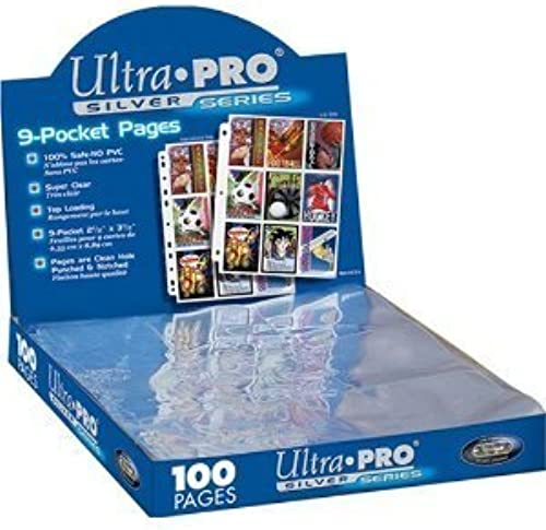 (200) 9-pocket Silber Card Storage Seiten by Ultra Pro