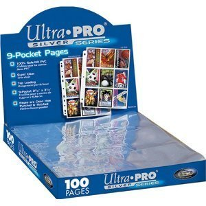 (200) 9-pocket Silver Card Storage Seiten by Ultra Pro