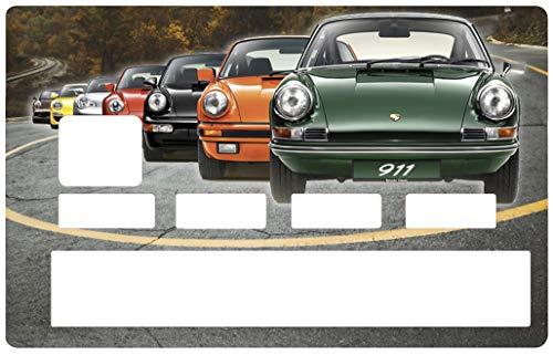 Sticker voor bankkaart, Porsche 911 collection - Onderscheid en versier je bankkaart naar wens !! Makkelijk aan te brengen, zonder luchtbellen