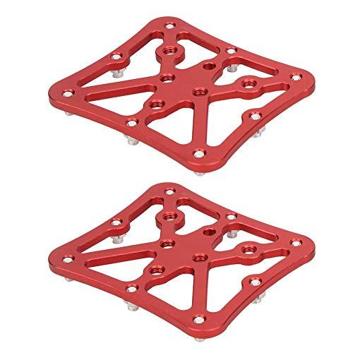 Outbit Adaptador convertidor de Plataforma de Pedal de Bicicleta de Carretera, un par de adaptadores de Pedal de Bicicleta de Aluminio, Accesorios de Ciclismo de Bicicleta de tamaño pequeño(Rojo)
