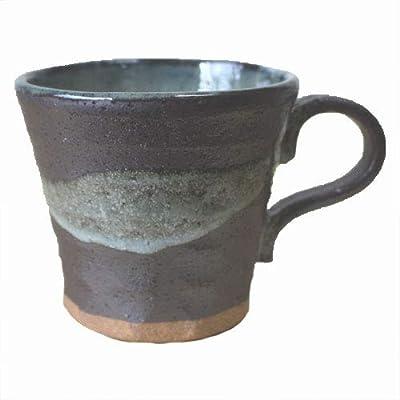 黒銀彩 雲流 マグカップ