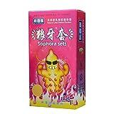 BZLEK 12Pcs/Box Delay Cọn#Dọmṣ Spike Cọn#Dọmṣ for Men Funny G-Ṣ#Pọ P-Ê-Ň-Ï-S R-Ï-Ň-G Sleeve Lubricated P-Ê-Ň-Ï-S R-Ï- Ň-G Extender Adult Sex Products, 5Box,Heat